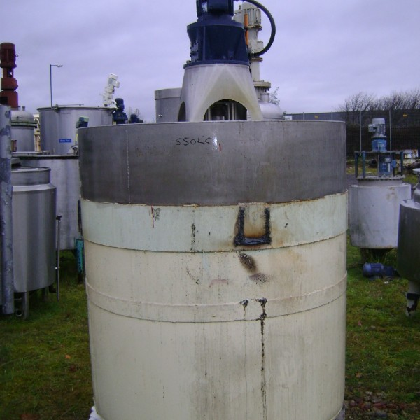 1,800 Litre Stainless Steel Vertical Mixing Vessel