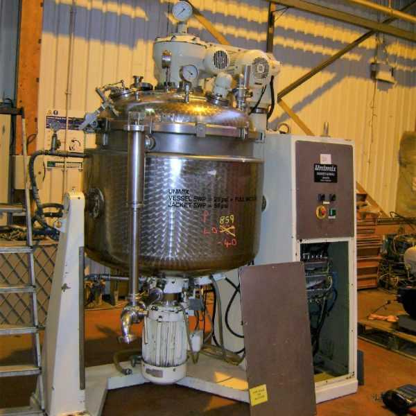 500 Litre 7 HP Haagen & Rinau Type SR500 316TI Stainless Steel Unimix Double Motion Processing Unit