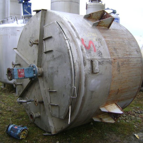 4200 Litres Stainless Steel Vertical Mixing Vessel