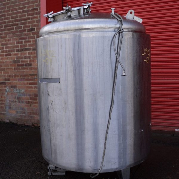2000 Litre, 3 Bar Internal, 3.5 Bar Jacket Stainless Steel Reactor