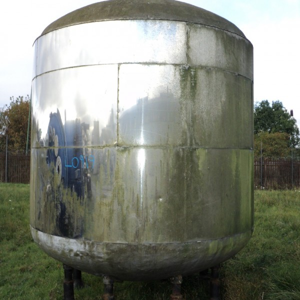 13450 Litres Stainless Steel Vertical Storage Vessel