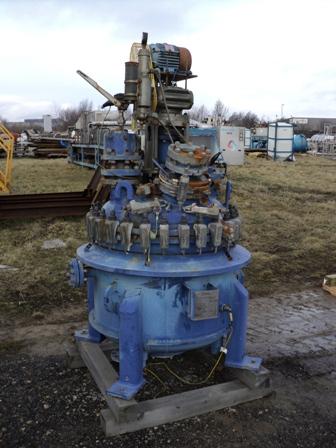 225 Litre, 3 Bar/Full Vacuum Internal, 5 Bar/Full Vacuum Jacket Cannon Vertical Glass Lined Reactor