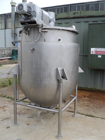 1170 Litre, 2.76 Bar Jacket, 316 Stainless Steel Vessel