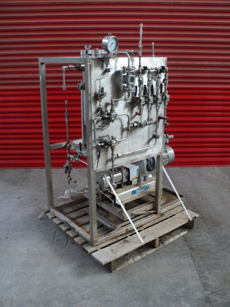 220mm X 500mm 10 bar Amafilter 316TI Stainless Steel Bag Filtration Skid