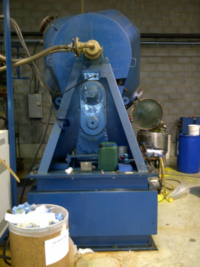 Used 2 615 Litre Pfaudler Glass Lined Double Cone Vacuum
