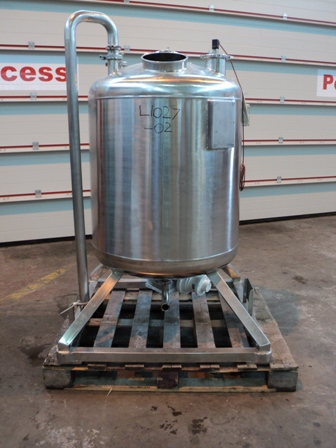 344 Litre 316L Stainless Steel Vertical Agitated Vessel