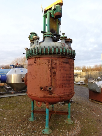 2,500 Litre, 6 Bar Internal, 6 Bar Jacket, Pfaudler Vertical Glass Lined Reactor