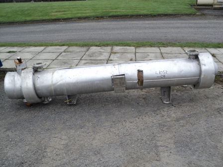 3 Sq. M. Buckley & Taylor Horizontal Shell and Tube Heat Exchanger