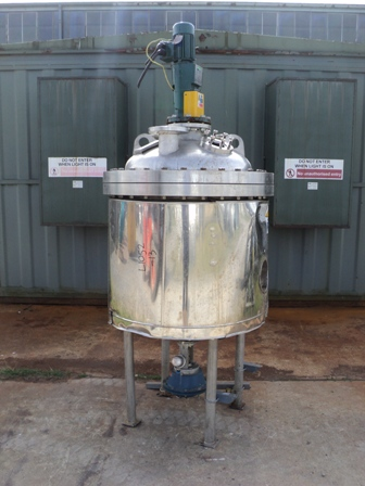 250 Litre, 6 Bar, 316L Stainless Steel Vertical Reactor
