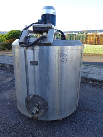 910 Litre Stainless Steel Vessel