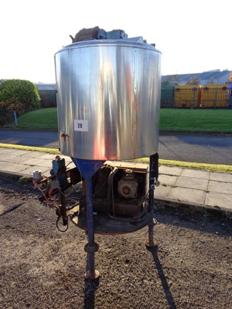 710 Litre Stainless Steel Vertical Mixing Vessel