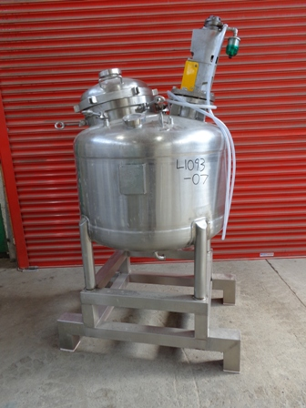 300 Litre 316L Stainless Steel Vertical Mixing Vessel
