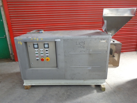 Bepex Model GCS200/60 Stainless Steel Extruder/Pelletizer
