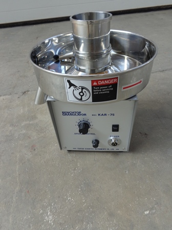 Fuji Paudal Model KAR-75 Stainless Steel Bench Top Granulator
