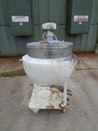 135 Litre Stainless Steel Jacketed Mixing Pan