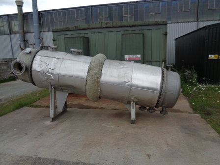 120 Sq. Meter Oliver Y Battle Horizontal Shell and Tube Heat Exchanger