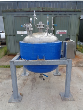 500 Litre Stainless Steel Vertical Jacketed Vessel
