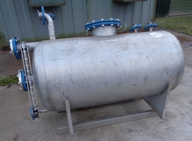 460 Litre Stainless Steel Horizontal Receiver Vessel