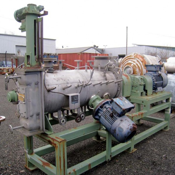 300 Litre Lödige Model KM-300D Stainless Steel Continuous Ploughshare Mixer