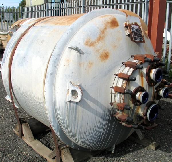 2,000 Litre, 1400mm X 1175mm, 6 Bar, De Dietrich Glass Lined Vessel