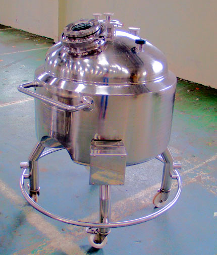 170 Litre Stainless Steel Mobile Receiver Vessel, Unused