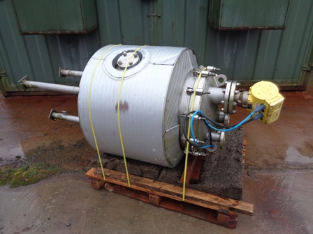 160 Litre 316L Stainless Steel Vertical Vacuum Receiver Vessel
