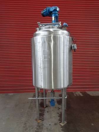 1000 Litre, Atomspheric Internal, 2 Bar Jacket, Stainless Steel Process Vessel