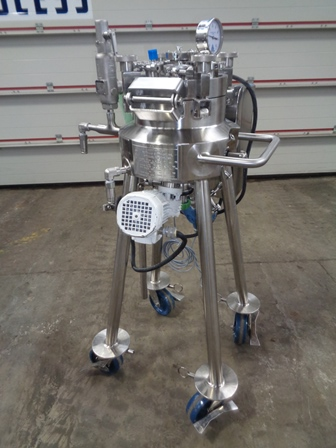 10 Litre, 3 Bar Internal, 8 Bar Jacket, Stainless Steel Reactor