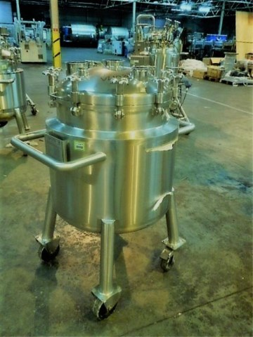 150 Litre 316L Stainless Steel Vertical Receiver Vessel