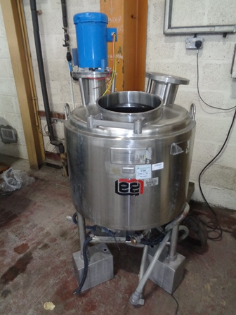 114 Litre Capacity Stainless Steel Jacketed Mixing Vessel