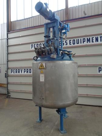 1,000 Litre, FV/6 Bar Internal, FV/30 Bar Jacket, De Dietrich Glass Lined Reactor