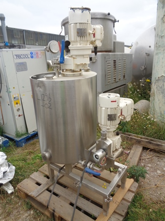 250 Litre Stainless Steel Vertical Mixing Vessel, 630mm Dia x 800mm Straight Side