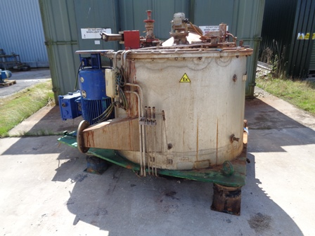 49″ X 24″ Krauss Maffei 316L Stainless Steel Perforated Basket Centrifuge
