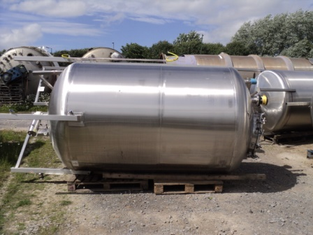 5,000 Litre Pontifex 316L Stainless Steel Vertical Storage Vessel, 1700mm Dia x 2250mm Straight Side