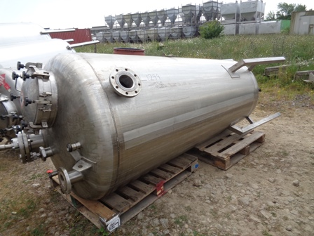 1,200 Litre Giusti Stainless Steel Vertical Mixing Vessel, 1200mm Dia x 2100mm Straight Side