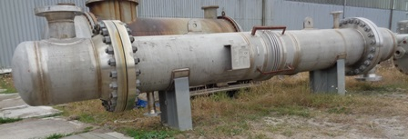 45.6 Sq. Meter Allards Horizontal Shell and Tube Heat Exchanger