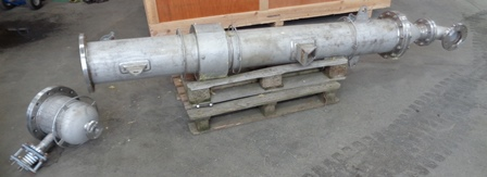 8.8 Sq. M. Graham Hart Vertical Stainless Steel Shell and Tube Heat Exchanger