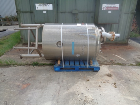 500 Litre Reo Stainless Ltd Stainless Steel Vertical Vessel