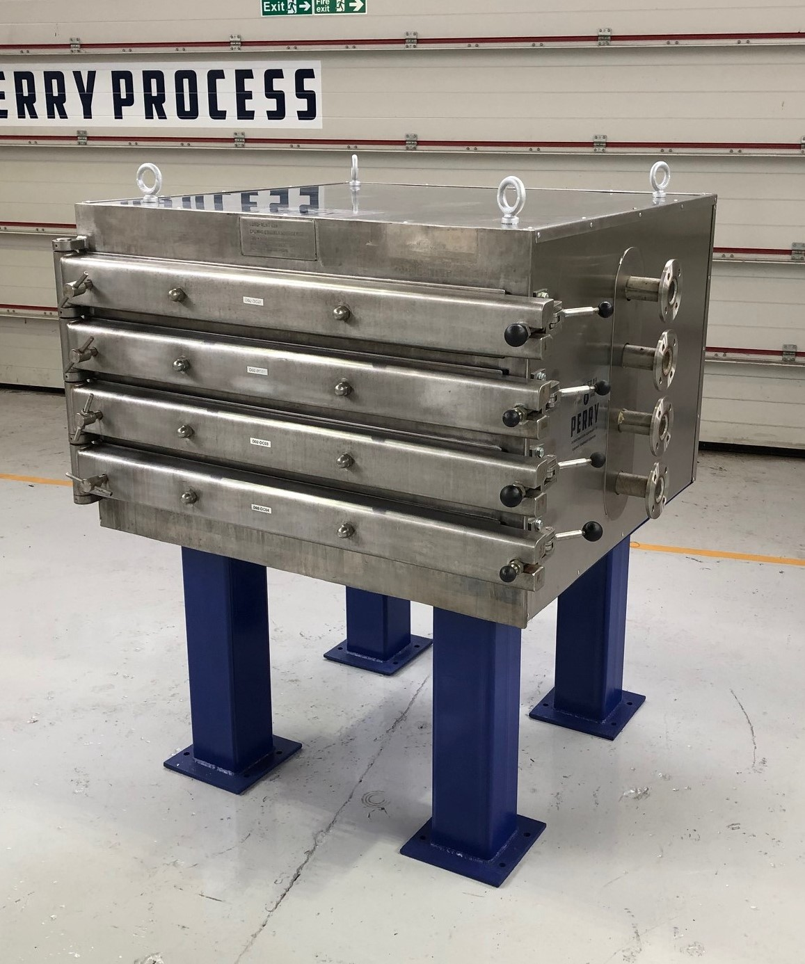 43 Sq. Foot,  Shelves Eurovent Stainless Steel Vacuum Tray Dryer