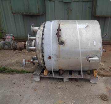 600 Litre Stainless Steel Vertical Jacketed Mixing Vessel, 900mm Dia x 1000mm Straight Side