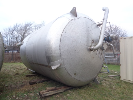 50,000 Litre Stainless Steel Vertical Storage Vessel