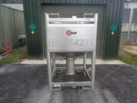 1,000 Litre Glatt Stainless Steel IBC