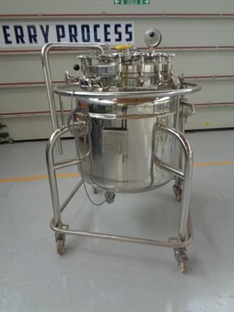 200 Litre, 6 Bar/Full Vacuum Internal, 4.5 Bar/Full Vacuum Jacket, Stainless Steel Reactor