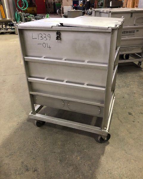 230 Litre Stainless Steel Mobile Bin