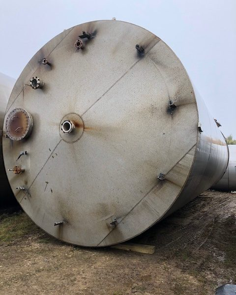 222,000 Litre 304 Stainless Steel Vertical Tank, 4900mm Dia x 12000mm Straight Side