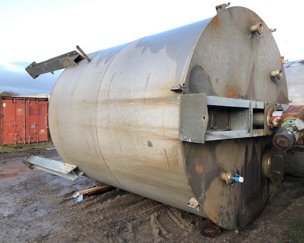 40,000 Litre 304 Stainless Steel Vertical Storage Vessel, 3500mm Dia x 4000mm Straight Side