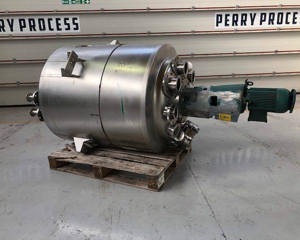 556 Litre, 6 Bar/FV Internal, 6 Bar/FV Jacket, 316L Stainless Steel Reactor
