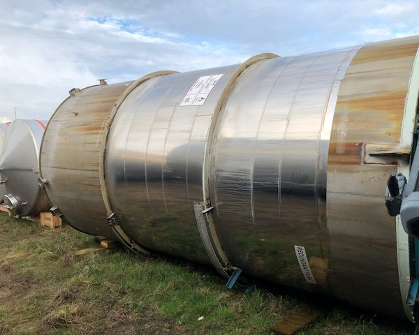 36,600 Litre Stainless Steel Vertical Tank, 2800mm Dia x 5300mm Straight Side