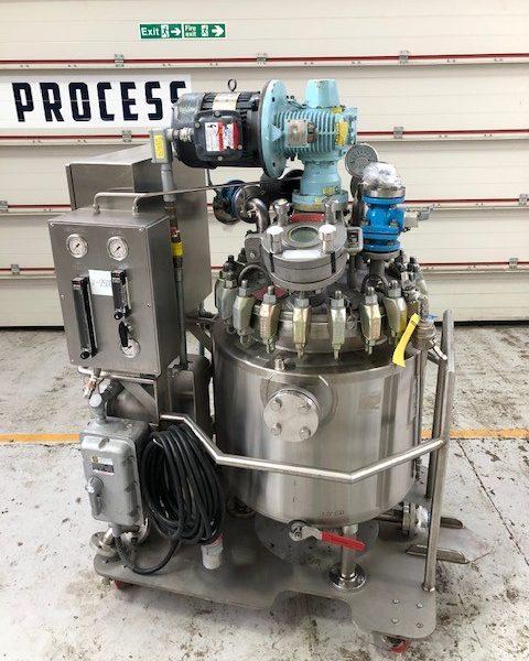 30 Gallon 150 PSI Internal, 150 PSI Jacket Hastelloy C22 Mobile Reactor