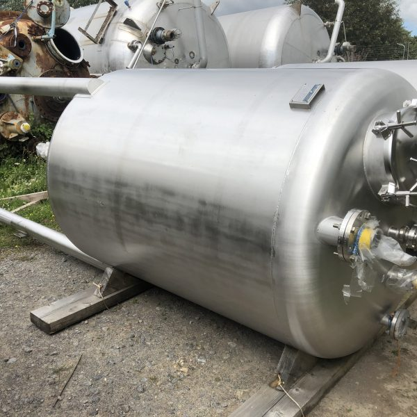 4,200 Litre Stainless Steel Vertical Storage Vessel, 1400mm Dia. x 1830mm Straight Side